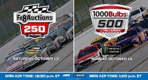 Talladega Schedule Of Events - 1000Bulbs.com 500 | MRN Arca Champs Briscoe And Enfinger Duel In Nascar Trucks Race At Xfinity Series Gander Outdoors Truck Return 2018 Camping World Race Winners Nascarcom Ryan Truex To Full Schedule 2017 Auto Racing 2014 Season Review Motsportstalk Set Take On High Banks Of Bristol Sports Sets Stage Lengths For Every Cup Christopher Bell Finishes Off Dominant Win Atlanta The Old Mosport Gets Truck My Cars Five Drivers Who Should Run At Eldora