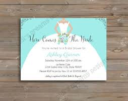 Bridal Shower Wedding Birthday or Baby Shower Invite and optional