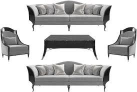casa padrino luxus deco wohnzimmer set grau schwarz silber 2 sofas 2 sessel 1 couchtisch mit marmorplatte edle deco wohnzimmer