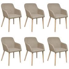 vidaxl esszimmerstühle 6 stk beige stoff und real de