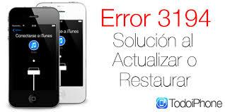 C³mo Solucionar el Error 3194 al Restaurar Actualizar iPhone o iPad