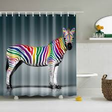 Colorful Zebra Skin Pop Art Shower Curtain GoJeek