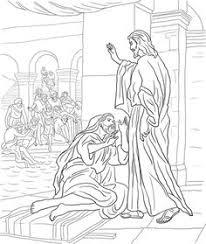 Printable Version Of Jesus Heals The Man At Pool Bethesda Coloring Page
