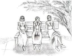 Park Bench B W version by Breadstick Memories on DeviantArt