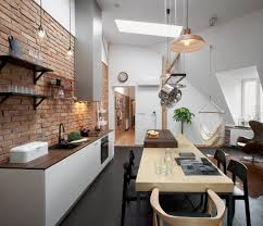 100 Brick Loft Apartments AtticApartmentwithWallsandExposedWoodPoland_1