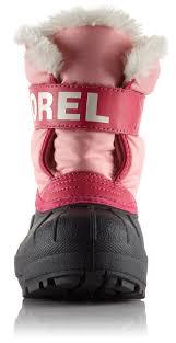 sorel kids snow commander winter boot pink black waterproof