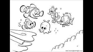 Finding Nemo Coloring Pages Colouring And Kids Game Youtube Free Book
