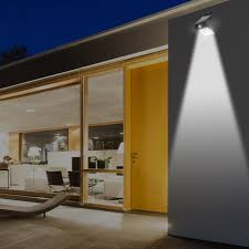 led solar outdoor wall light front and rear leds w dusk to
