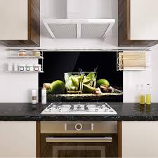 spritzschutz spritzschutz küche glas schwarz glasrückwand