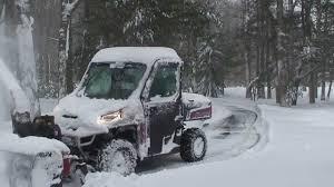 Polars Ranger XP _ 27 HP Berco Snow Blower - YouTube