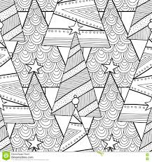 Christmas Tree Coloring Books by Black And White Pattern With Christmas Trees For Coloring Book