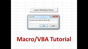 Macro Tutorial Insert Multiple Rows YouTube