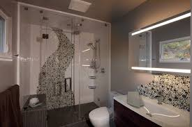 san francisco glass tile bathroom contemporary with wall