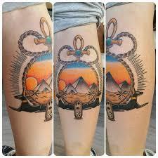 Nice Egyptian Pyramid Tattoo