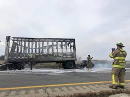 100 Ups Truck Accident Fire Destroys UPS Truck On I75 After Leaving From Toledo Hub