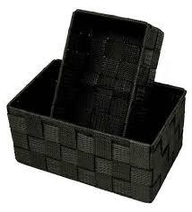 lashuma aufbewahrungskorb set 2 stück 1x badkorb 19x10x7 cm 1x aufbewahrungsbox 20x13x10 cm