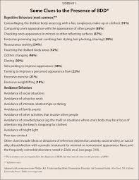 Dsm 5 Desk Reference Pdf by Assessment And Differential Diagnosis Of Body Dysmorphic Disorder