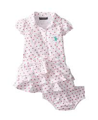 cute u s polo assn baby girls u0027 twill heart print ruffle dress