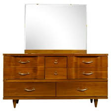 Johnson Carper 6 Drawer Dresser by 1960s Johnson Carper Mirrored Dresser Mid Modern Furniture