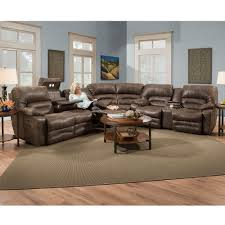 Conns Living Room Furniture Sets by Legacy 500 Reclining Sectional In Chocolate Or Sofas And Sectionals