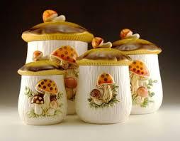 Kitchen Theme Decor Sets Cute Decorating Themes Mushroom Canisters Pattern Shape