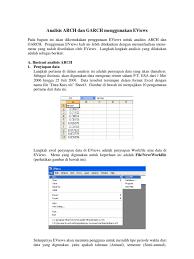 100 Arch D 04 Analisis ARCH An GARCH Menggunakan EViews 1