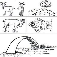Three Billy Goats Rubber Stamp Set