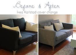 Karlstad Sofa Cover Isunda Gray by The Dapper Bun Quickchange
