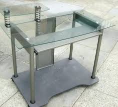 Glass And Metal Computer Desk With Drawers by Glass And Metal Corner Computer Desk Instructions With Hutch