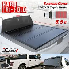 100 Truck Bed Door Tonneau Cover 20072018 TOYOTA TUNDRA 55ft Aluminum Hard TriFold