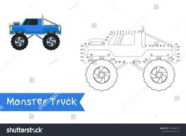 100 How To Draw A Monster Truck Step By Step Kids Style Connect Dots Stock Vector Royalty Free