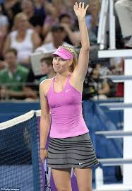 Maria Waves To The Crowd As She Celebrates Victory After Her Match Against Caroline