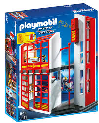 100 Playmobil Fire Truck Amazoncom PLAYMOBIL Station With Alarm Toys Games