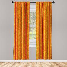 gardine fensterbehandlungen 2 panel set für wohnzimmer schlafzimmer dekor abakuhaus orange vertikale streifen floral kaufen otto