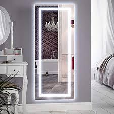 skerito led wandspiegel groß 120x55cm 47 2x21 7 hd beleuchtet badspiegel mit schaltersteuerung 6000k kaltweiß licht 1300lumen