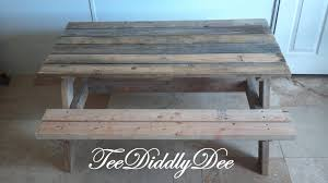 ana white how to build a kid size picnic table out of old