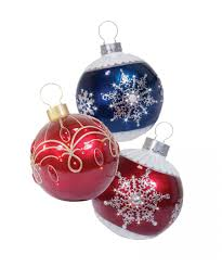 LED Lit Oversized Fiberglass Decorative Ornaments