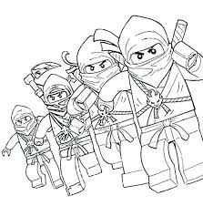 Lego Ninjago Coloring Pages Ninja Stunning With Go Kai Zx