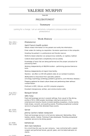 Phlebotomist Cv Examples Resume Objective Example