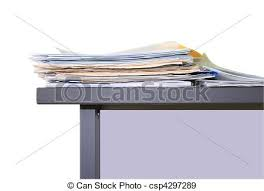 Office Work Papers On Table Stock Photo