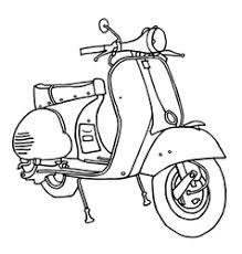Motor Scooter Royalty Free Vector Image