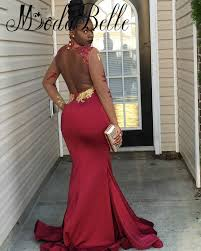 online get cheap gold and burgundy mermaid prom dress aliexpress