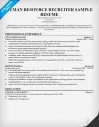 Recruiter Resume Template Sample Human Resources