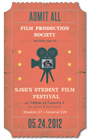 A Poster Designed For San Jose State Universitys Film Production Society Club In Promotion Of Student Made Films