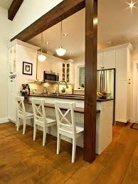 holzbalken in der küche dekoration ideen open kitchen
