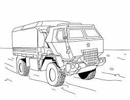 Military Vehicles Dump Truck Coloring Pages For Kids Printable