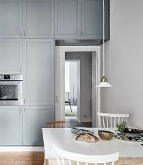 Kitchen In White And Blue