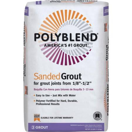 Custom Building Products Polyblend Sanded Grout - #381 Bright White, 25 lbs