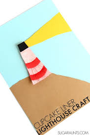 Cute Lighthouse Craft Using Cupcake Liners This Is A Fun To Make With The
