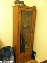 Wooden Gun Cabinet With Etched Glass by Armslist For Sale Trade 6 Gun Cabinet